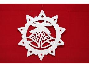 Dřevěné dekorace hvězda