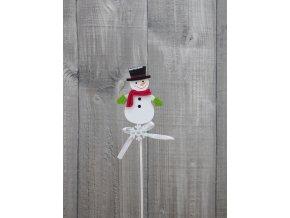 Sněhulák s kloboukem zápich