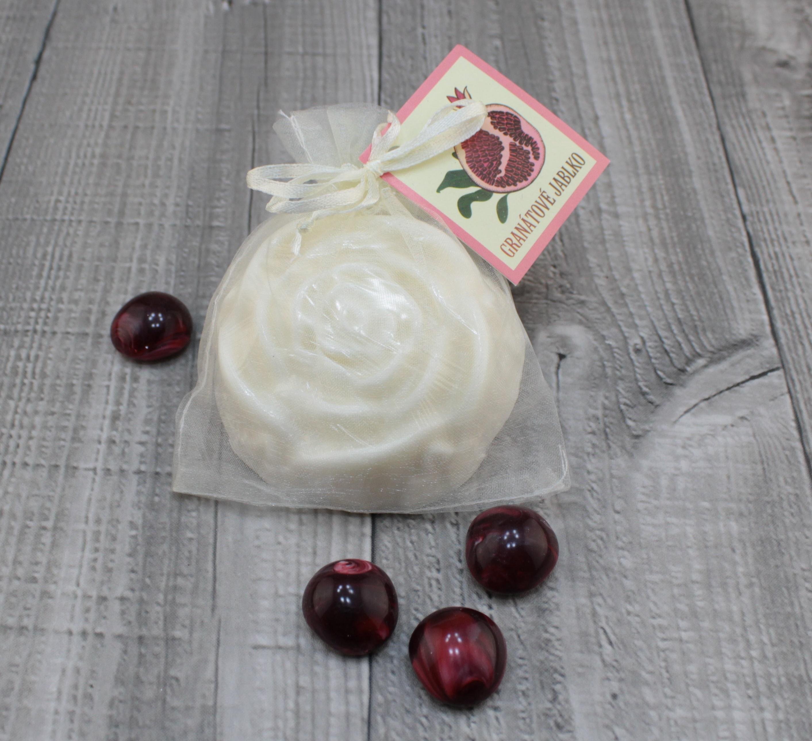 Mýdlo růže granátové jablko 90g Barva: Bílá