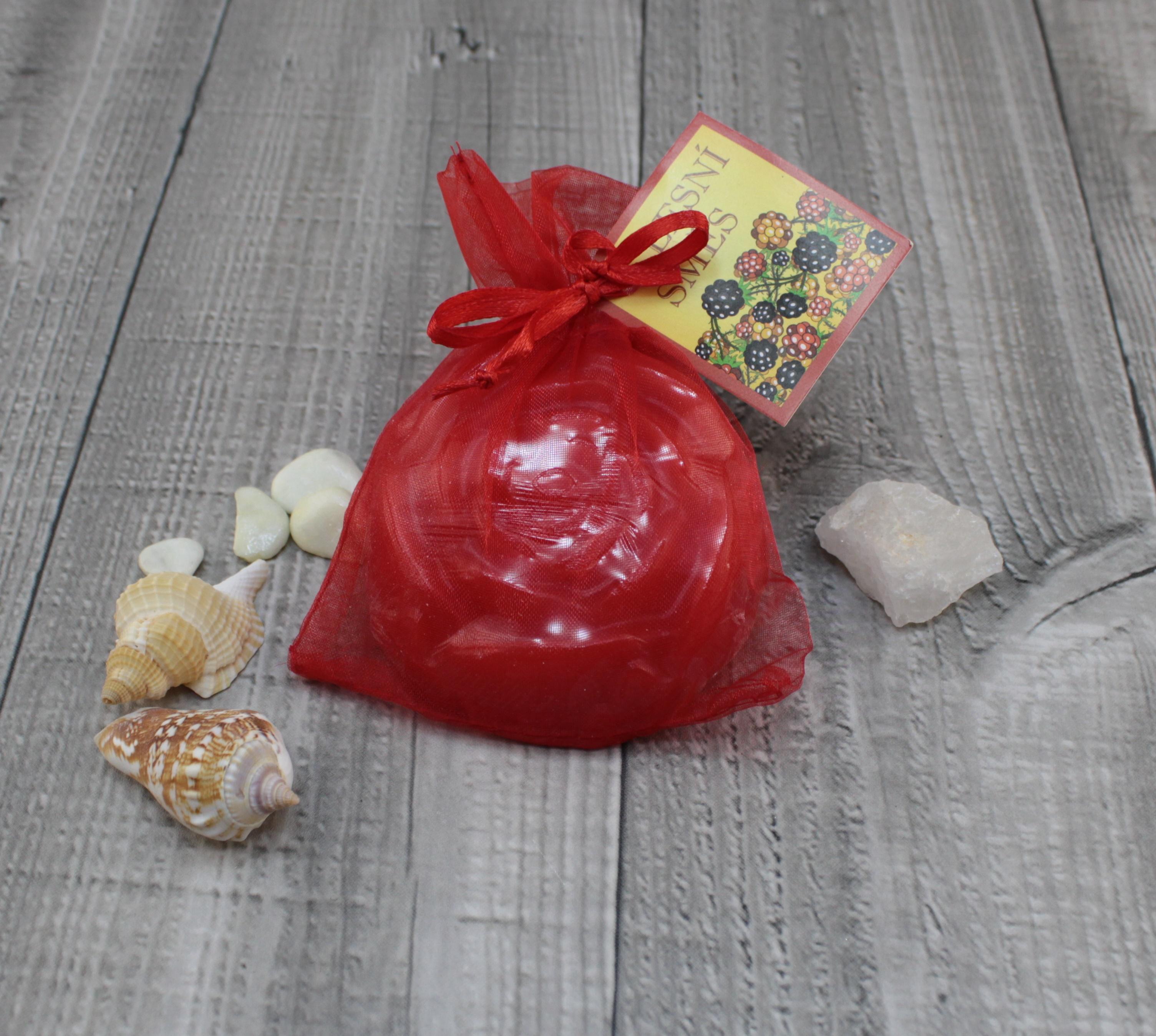 Mýdlo růže lesní směs 90g Barva: Červená