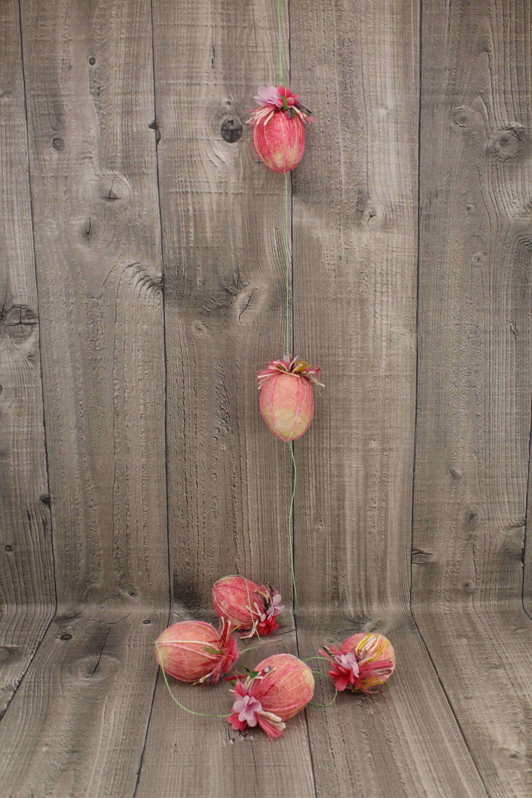 Vejce girlanda růžová