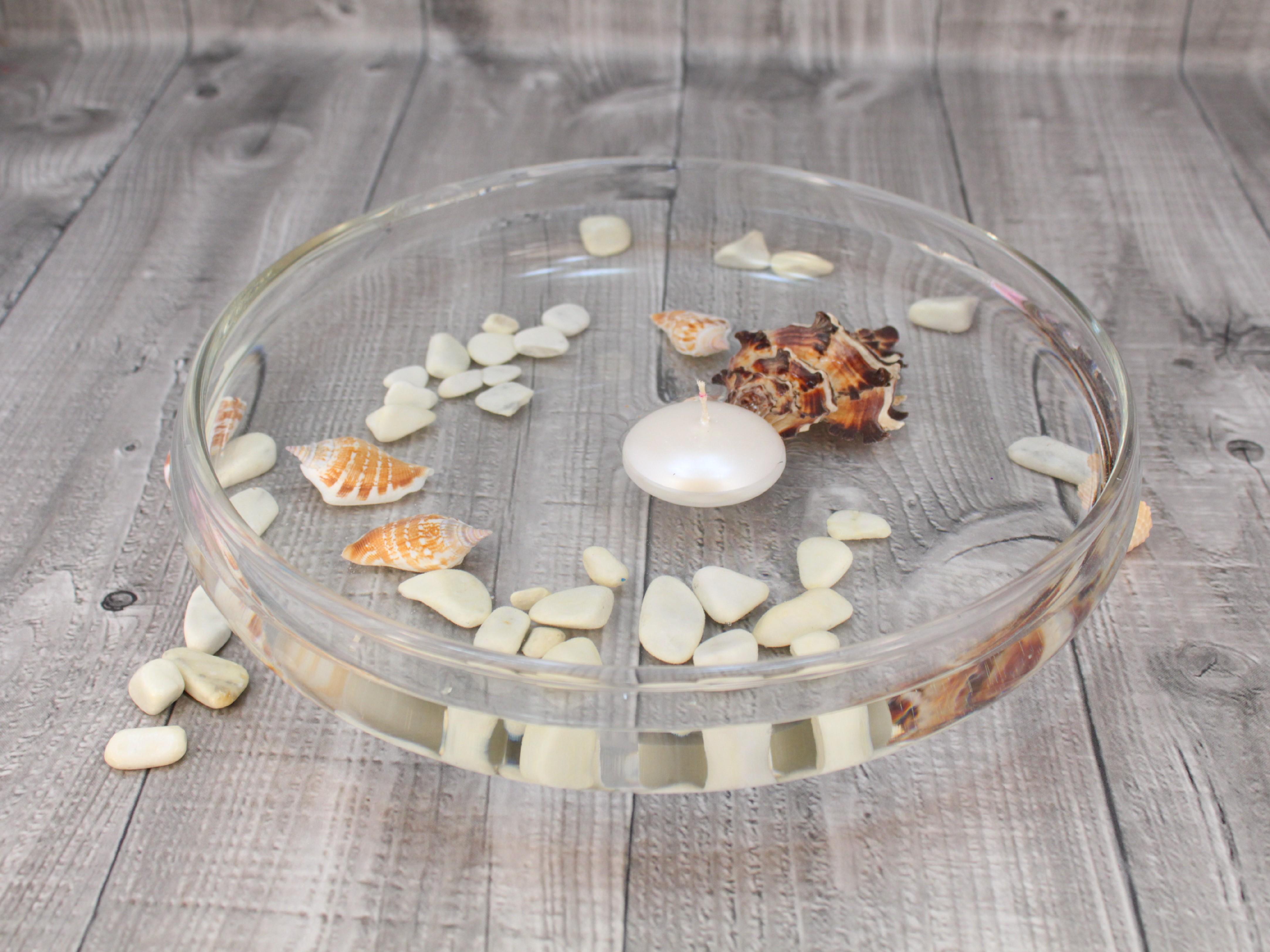 Svíčka plovoucí metalická perleťová