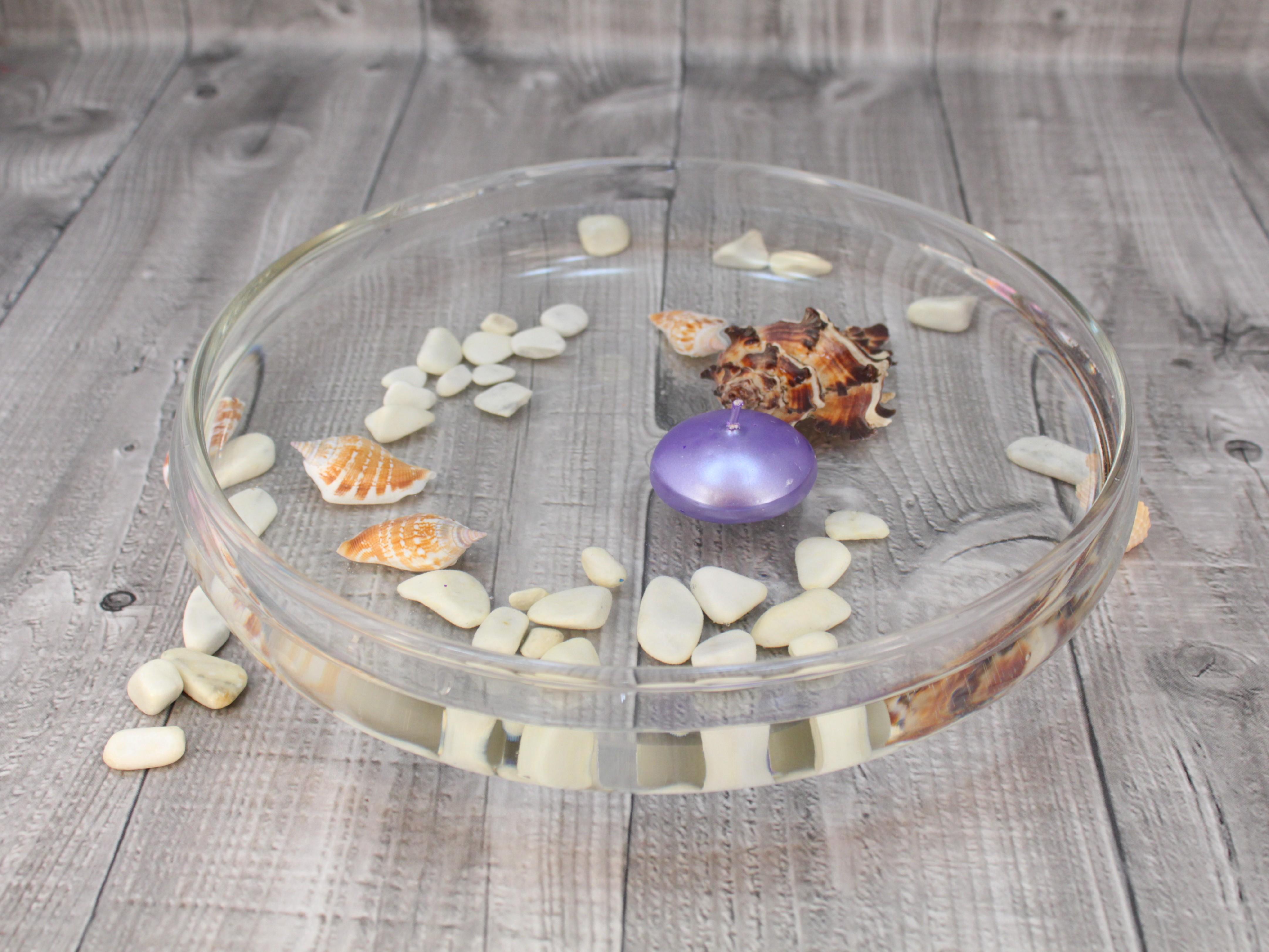 Svíčka plovoucí metalická sv.fialová