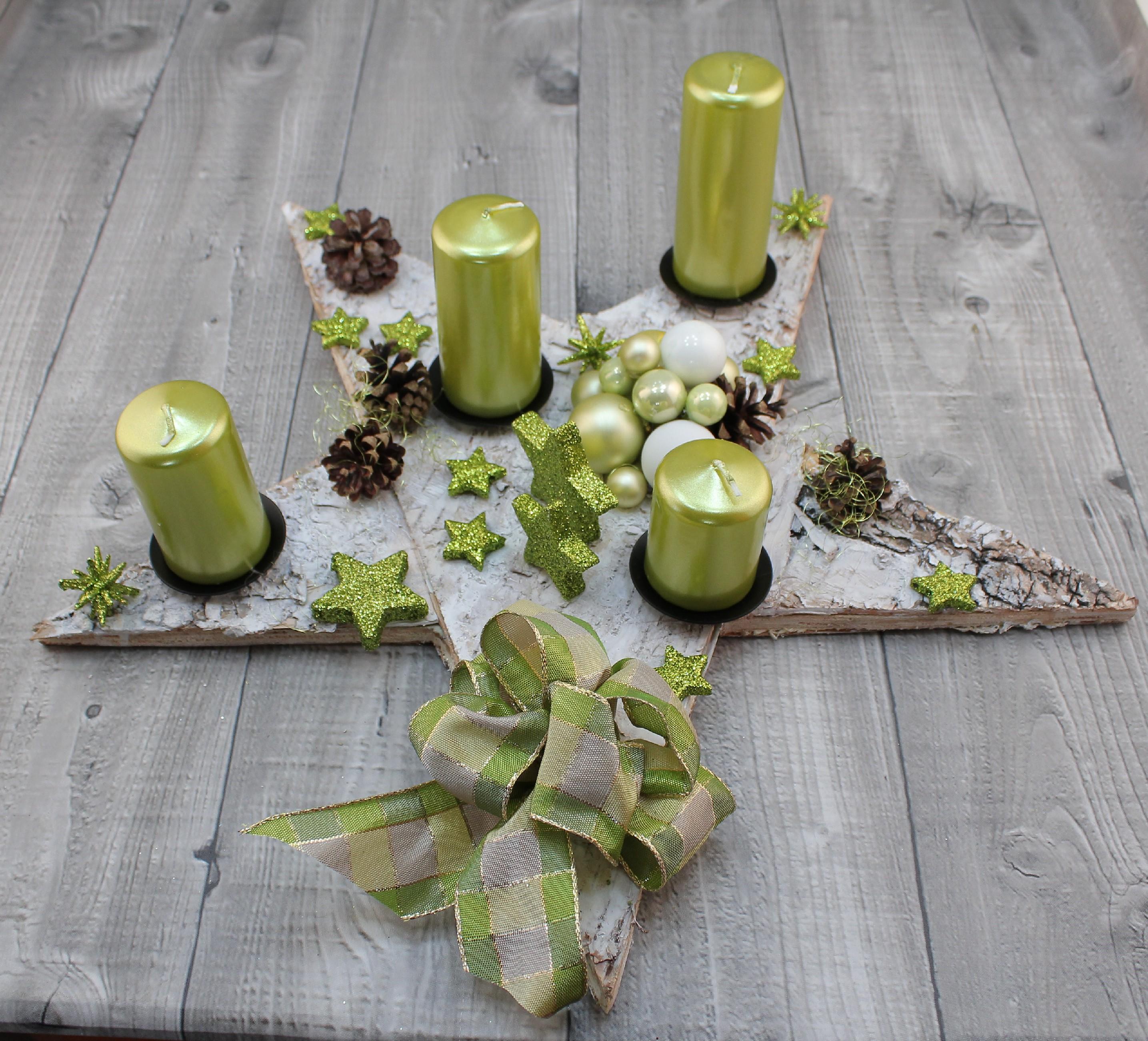 Svícen adventní kůra zelenkavý