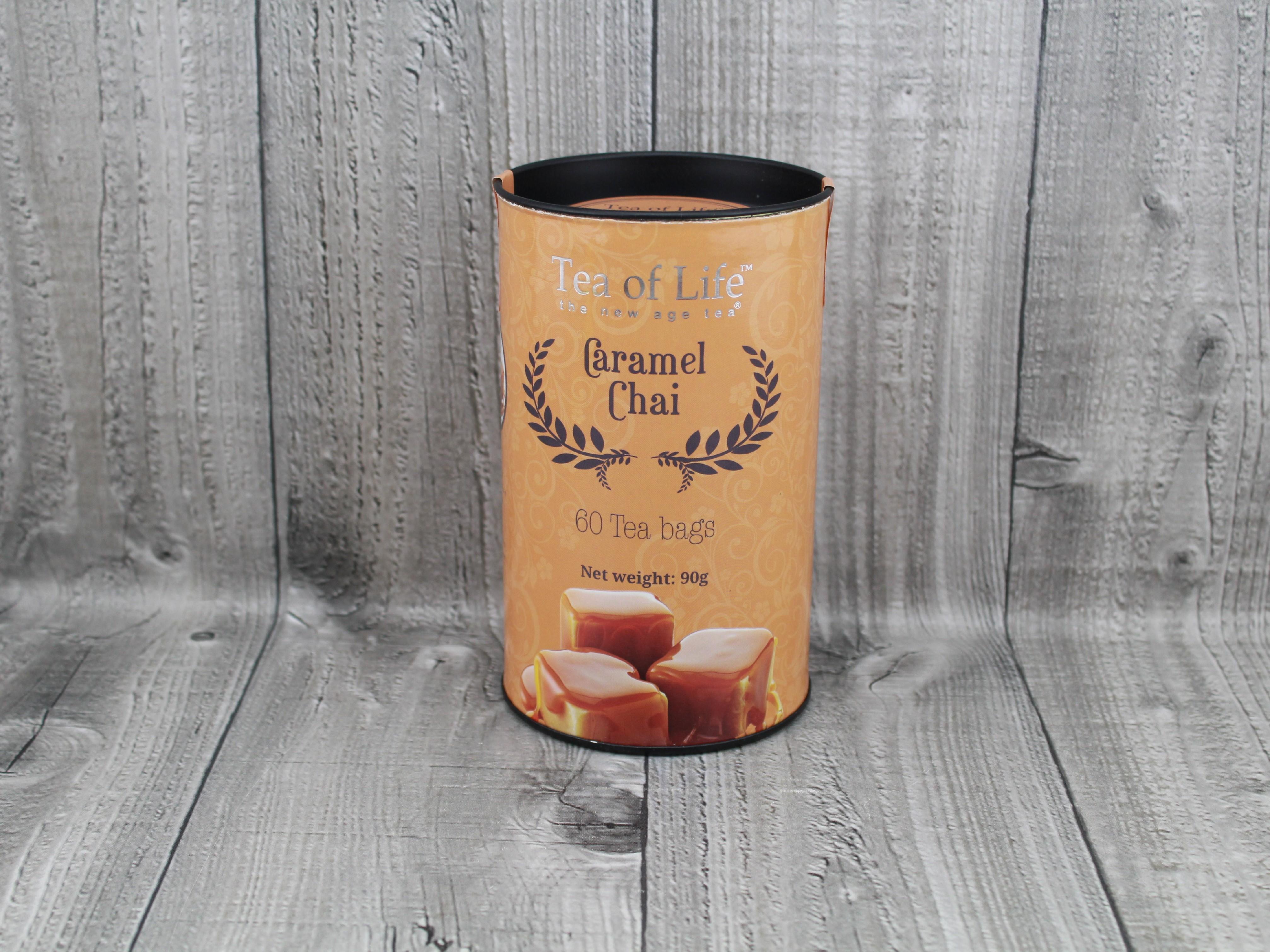Čaj dóza 60ks karamel