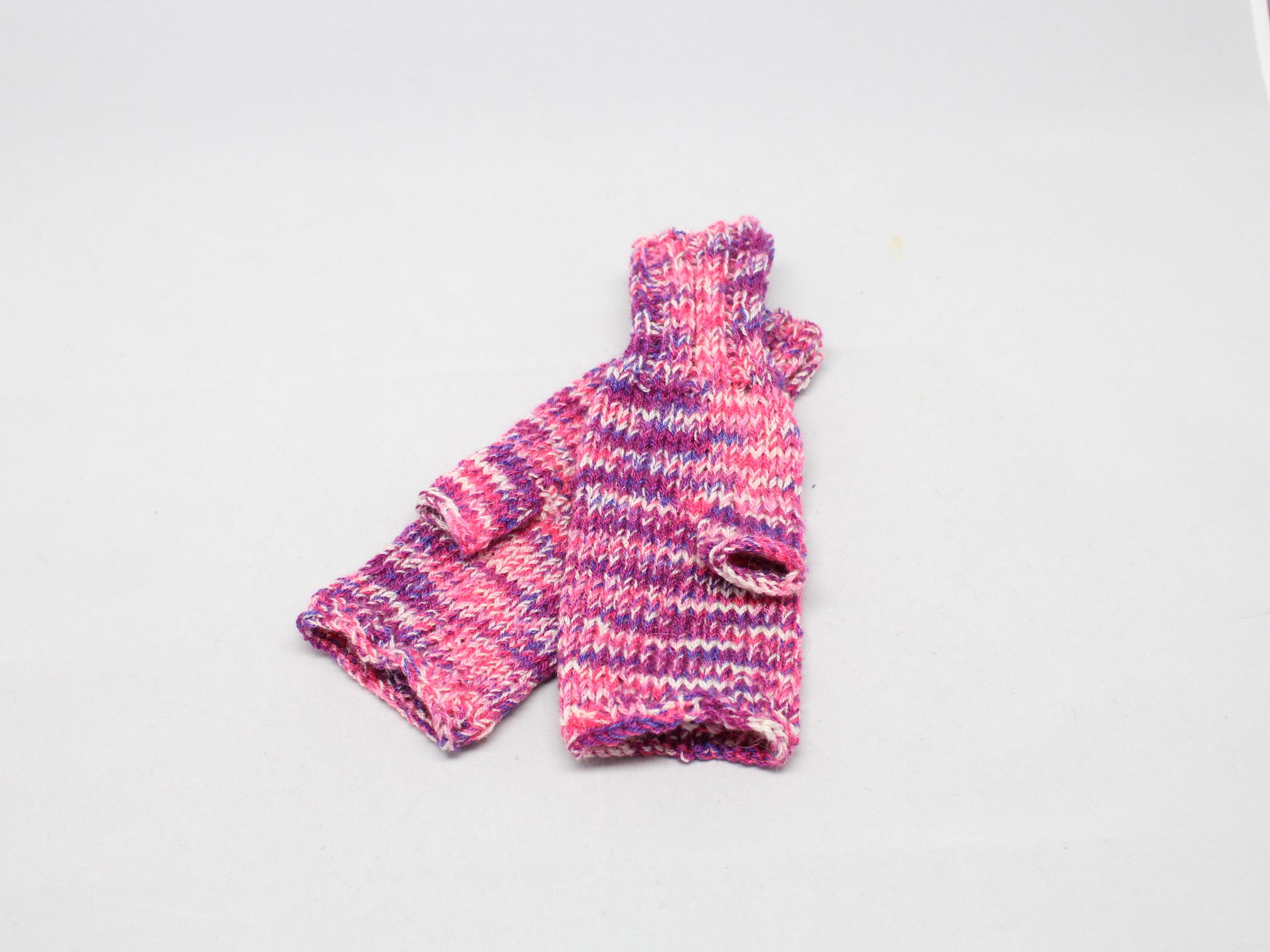 Návleky volné prsty Barva: Žíhaná