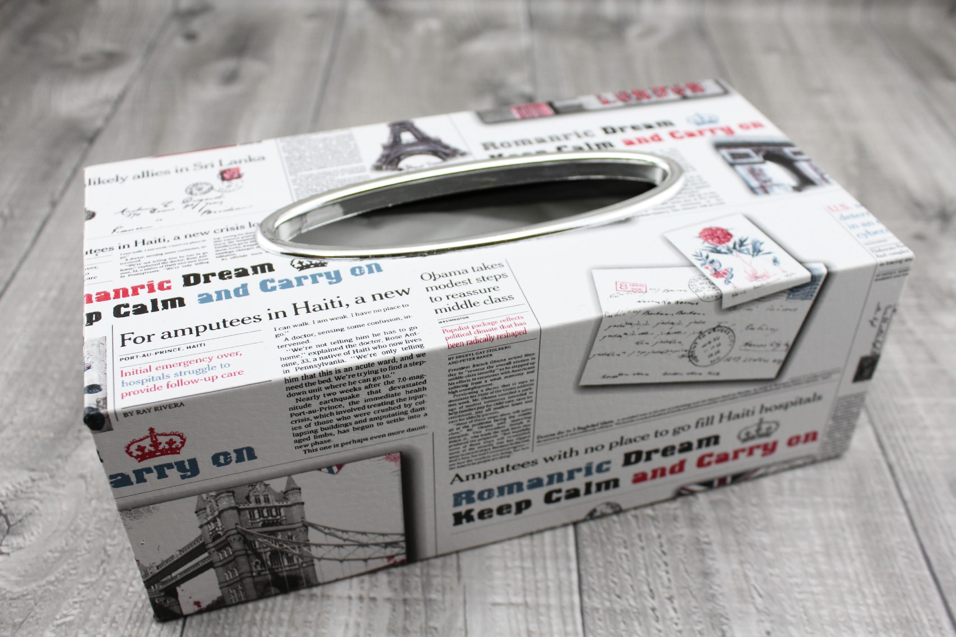 Krabice na kapesníky-tisk bílá počet kusů: včetně kapesníčků