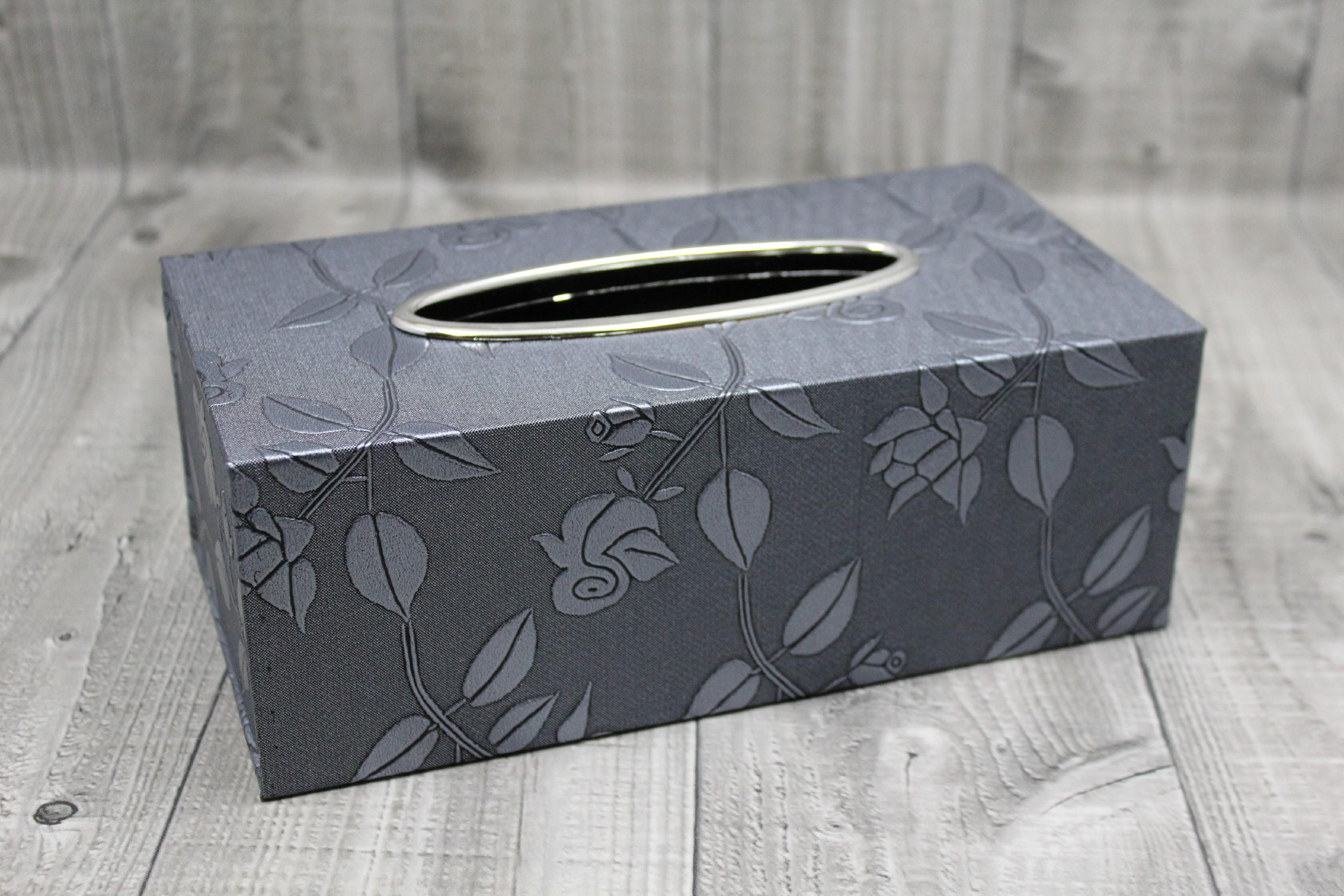 Krabice na kapesníky-šedá růže počet kusů: včetně kapesníčků