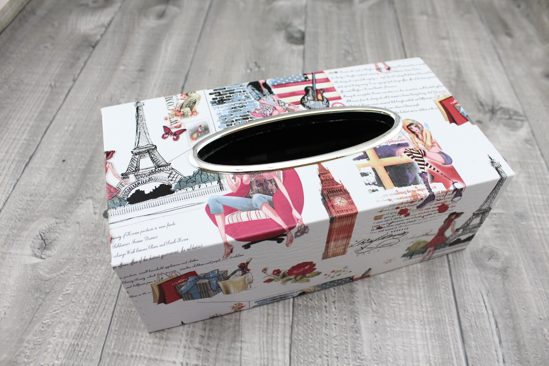 Krabice na kapesníky-tisk červený
