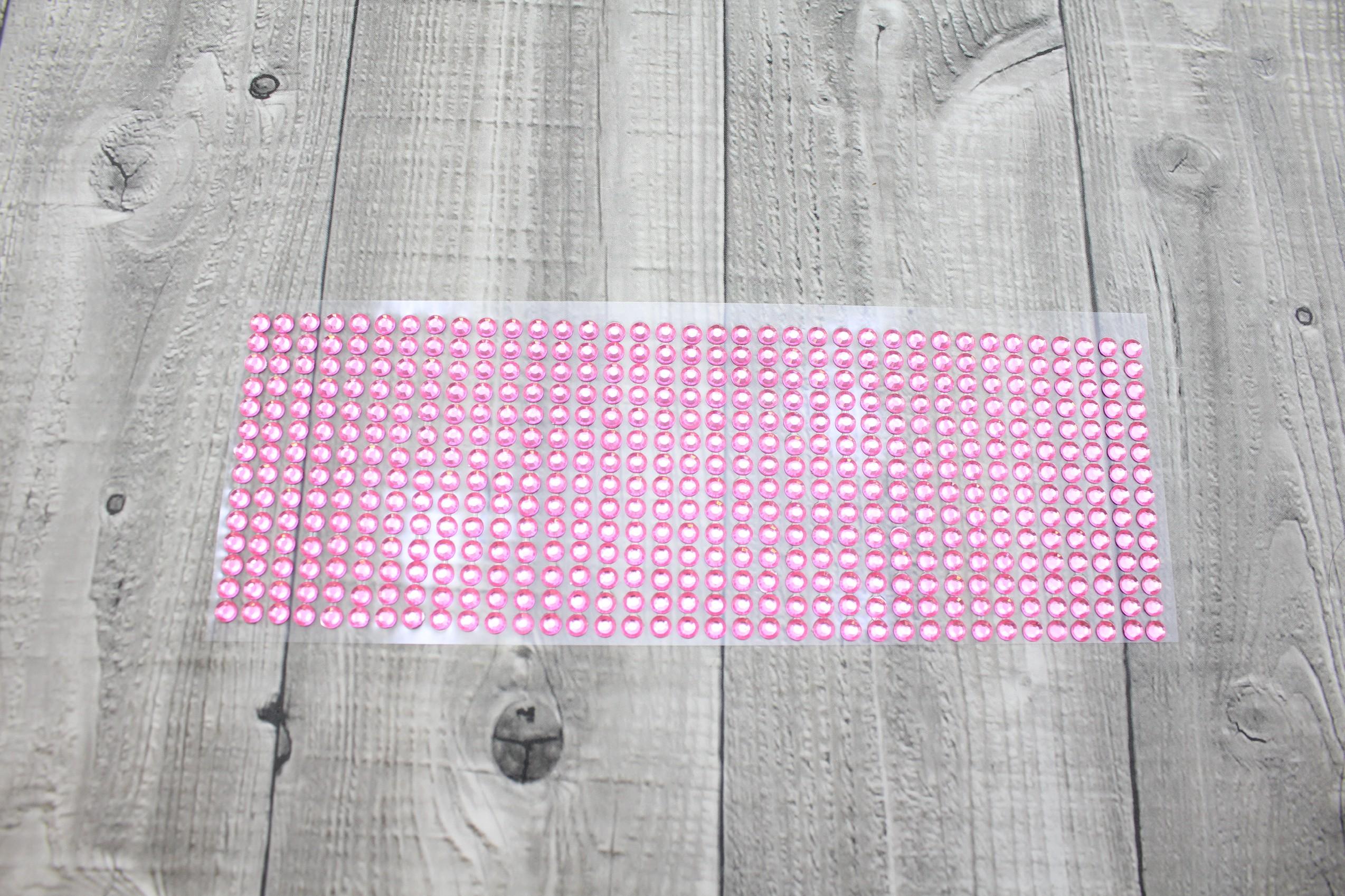 Kamínky nalepovací 6mm-růžová