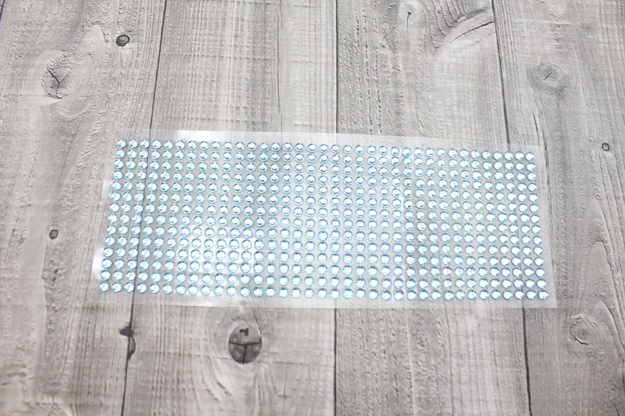 Kamínky nalepovací 6mm-modrá světlá