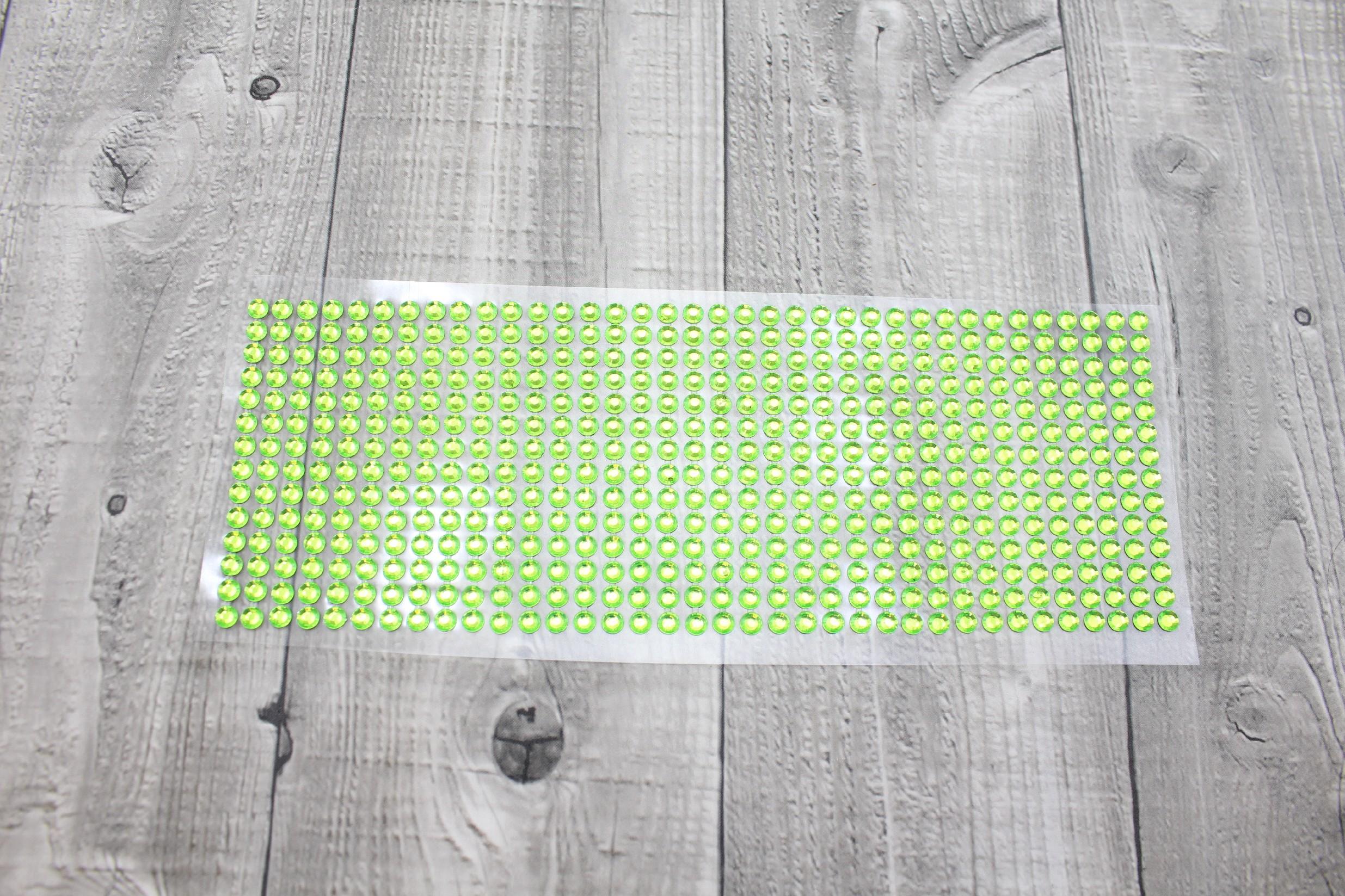 Kamínky nalepovací 6mm-zelená světlá