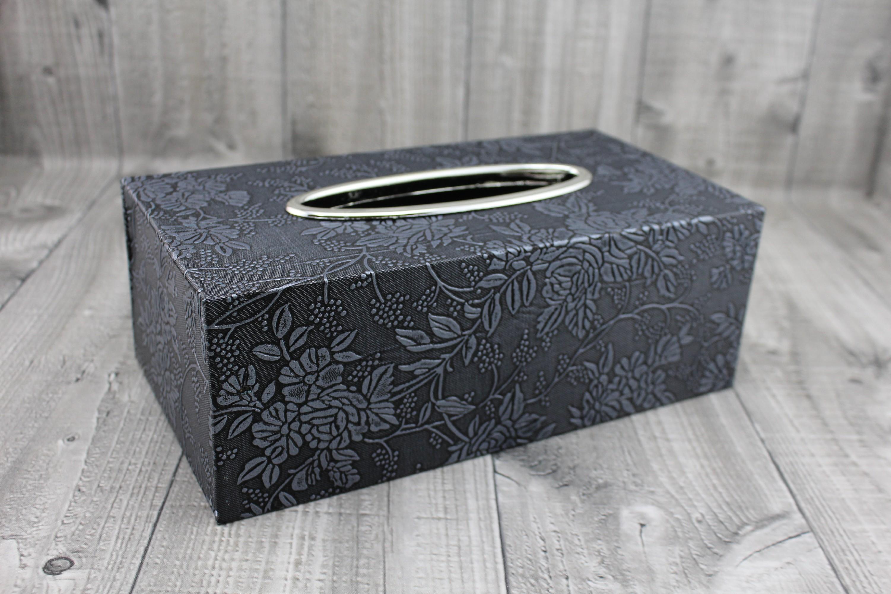 Krabice na kapesníky-tmavě šedá počet kusů: včetně kapesníčků