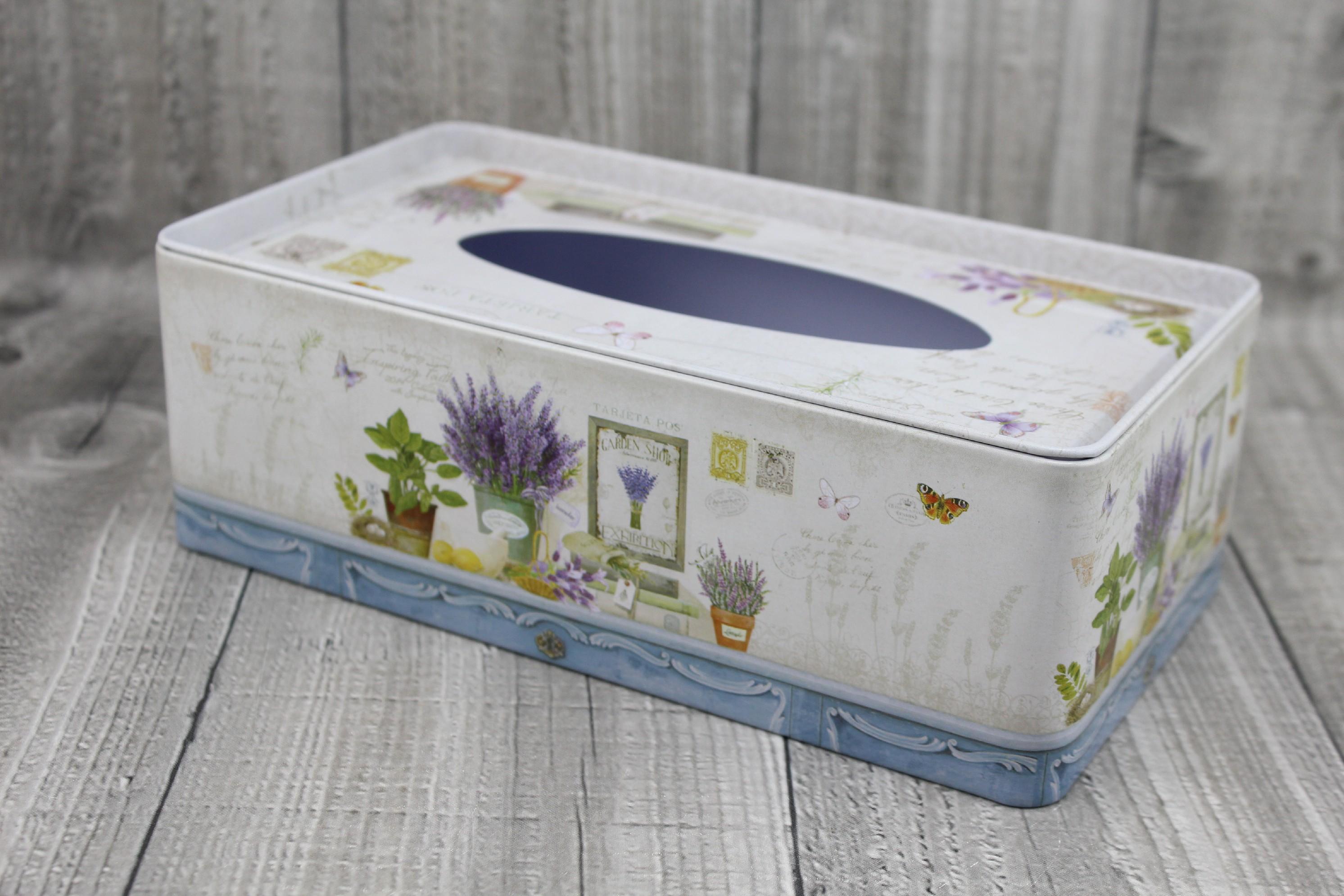 Krabice na kapesníky-levandule počet kusů: včetně kapesníčků