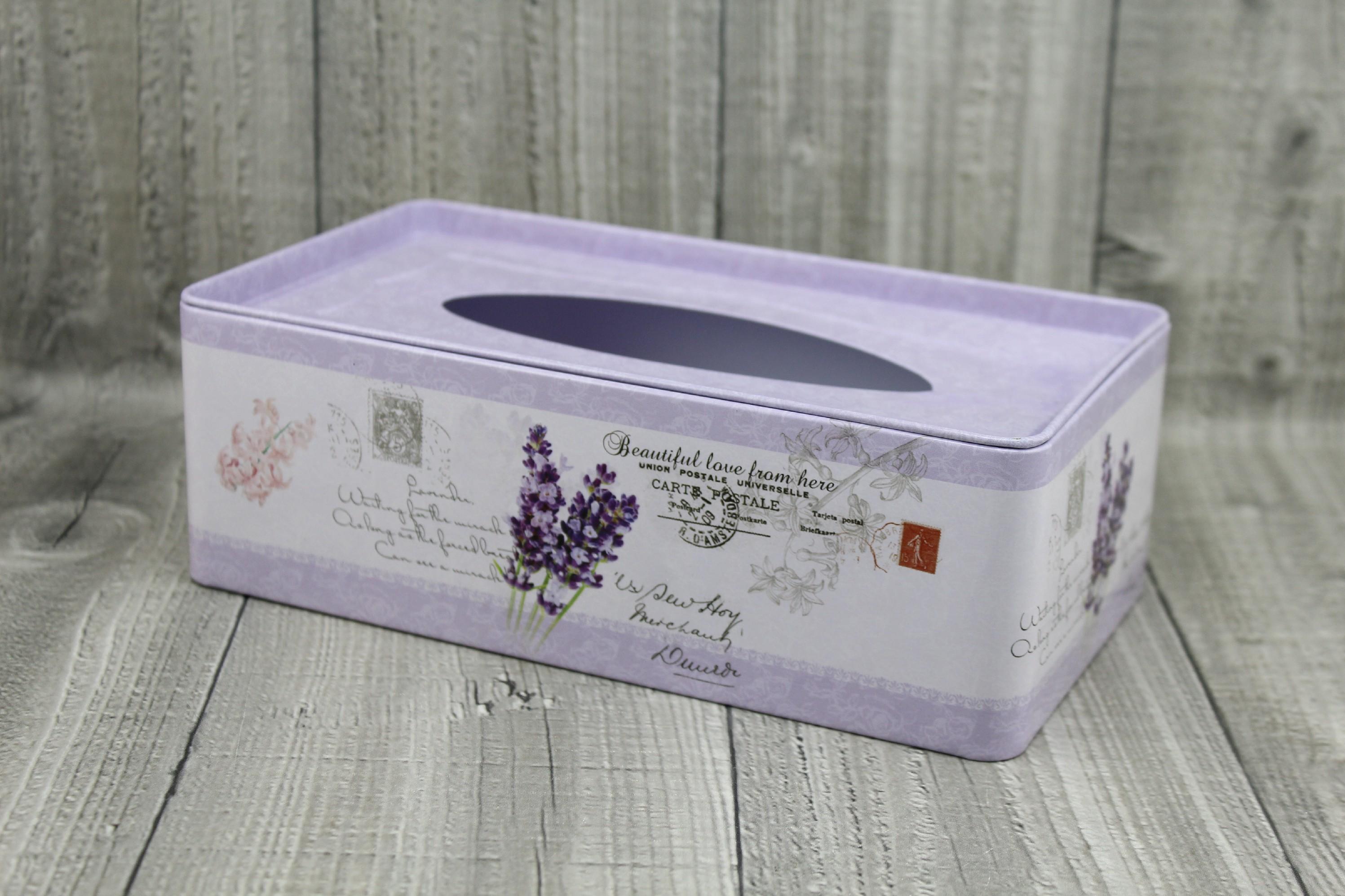 Krabice na kapesníky-fialová levandule počet kusů: včetně kapesníčků