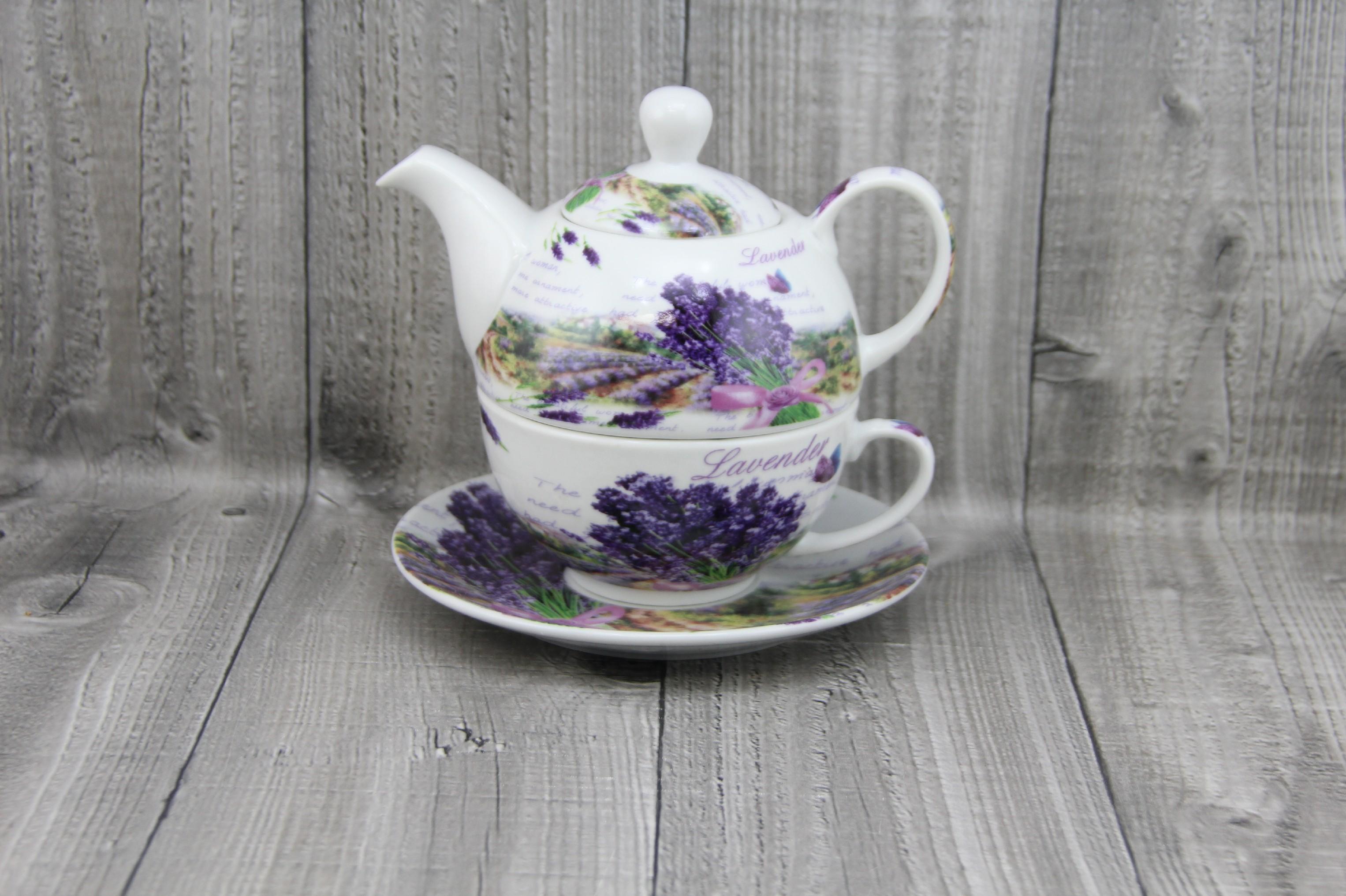 Souprava na přípravu čaje-levandule