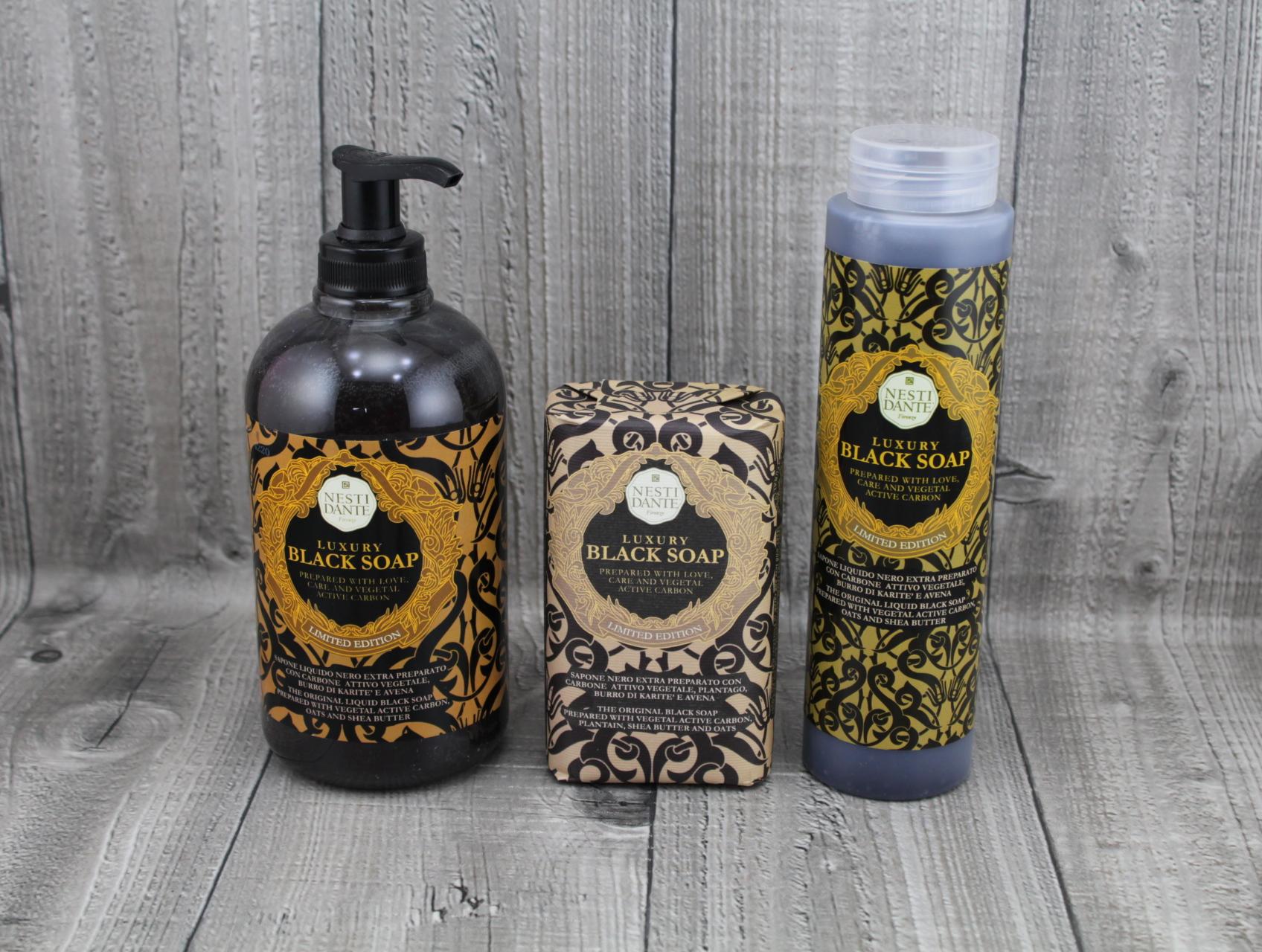 Mýdlo LUXURY BLACK NESTI DANTE barva: Mýdlo 250g
