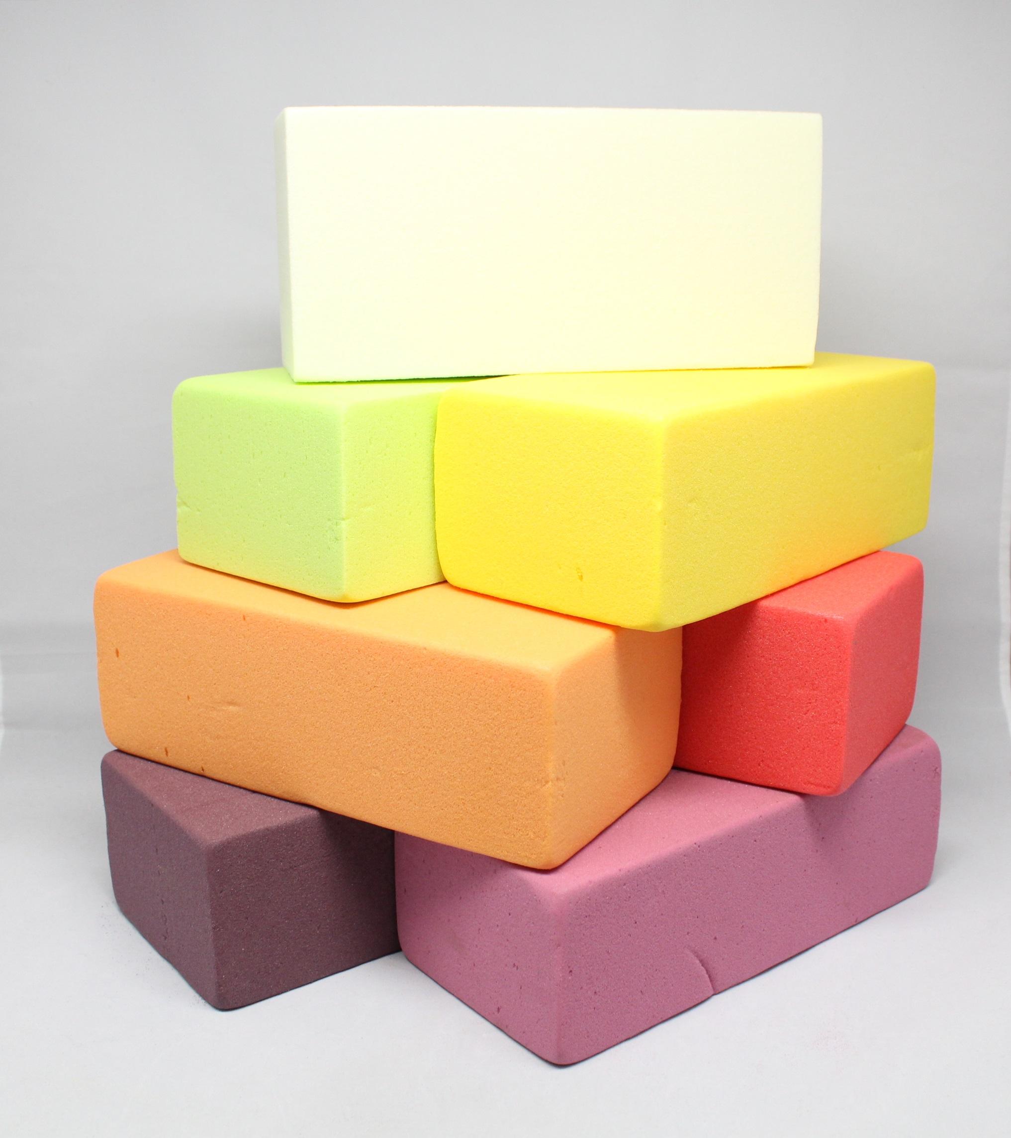 Aranžovací hmota barevná 23x11x8 cm Barva: Žlutá