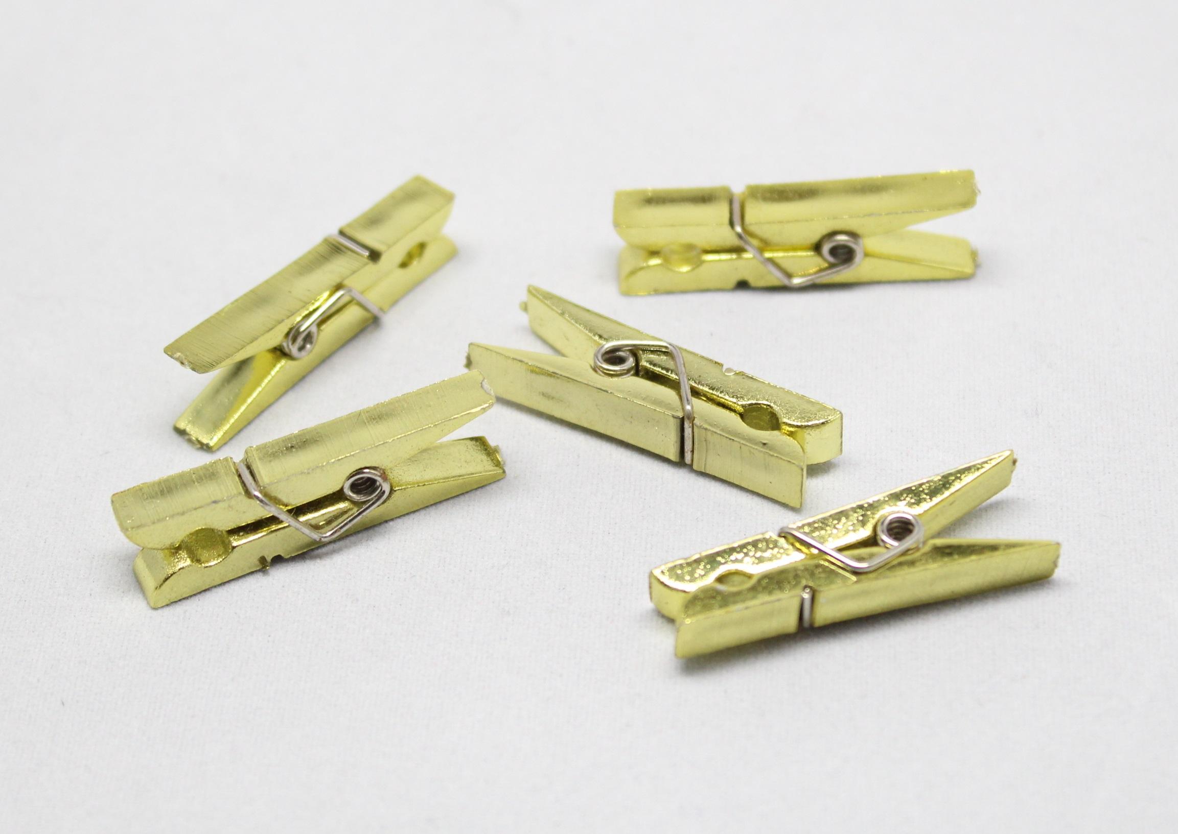 Kolíček dřevěný střední Barva: Zlatá