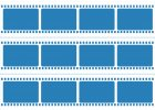 Filmový pás 12 snímků 7,4x7 cm