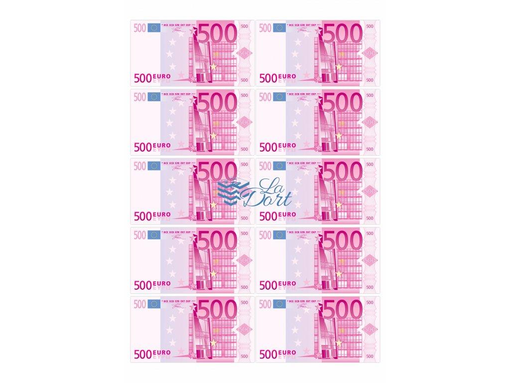 Euro platné bankovky 500€ - líc - A4 - 00225