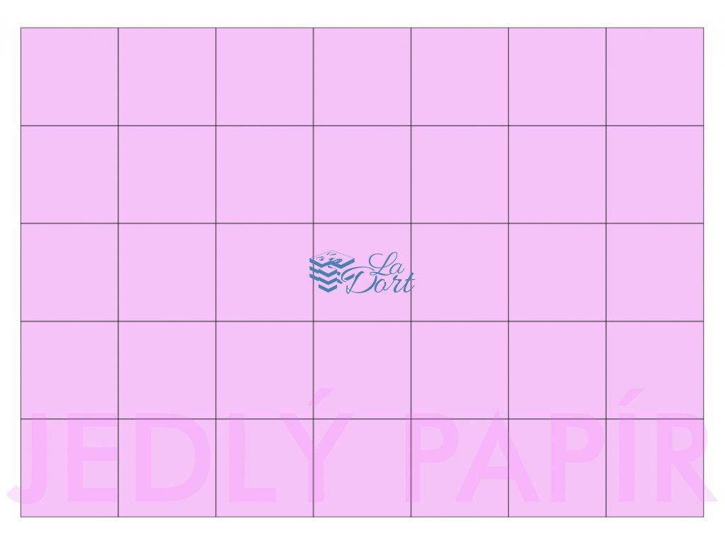 Jedlý papír - čtverec 35 ks 4x4 cm