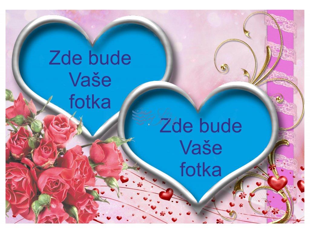 Valentýn dvě srdce - A4 - 00228
