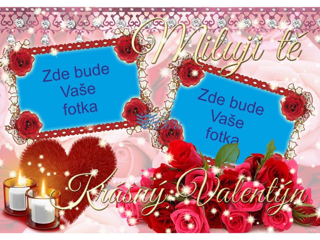 Valentýn dvě srdce - A4 - 00230