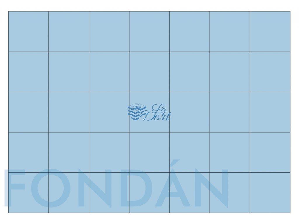 Fondánový list - čtverec 35 ks 4x4 cm