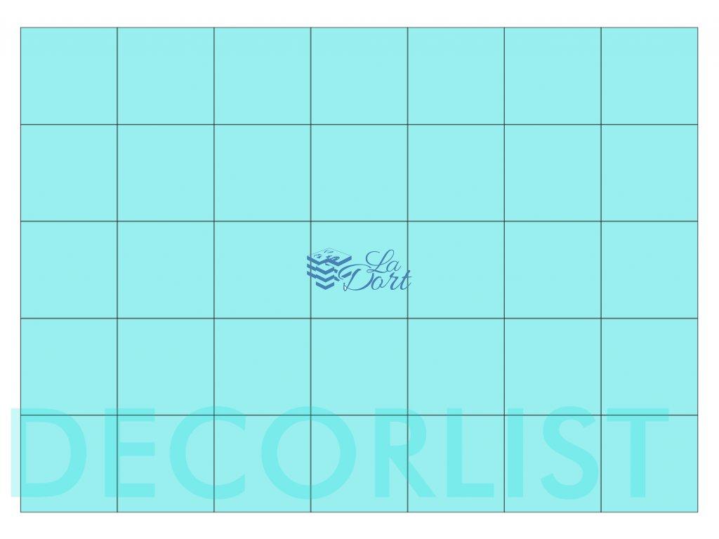 Decor list - čtverec 35 ks 4x4 cm