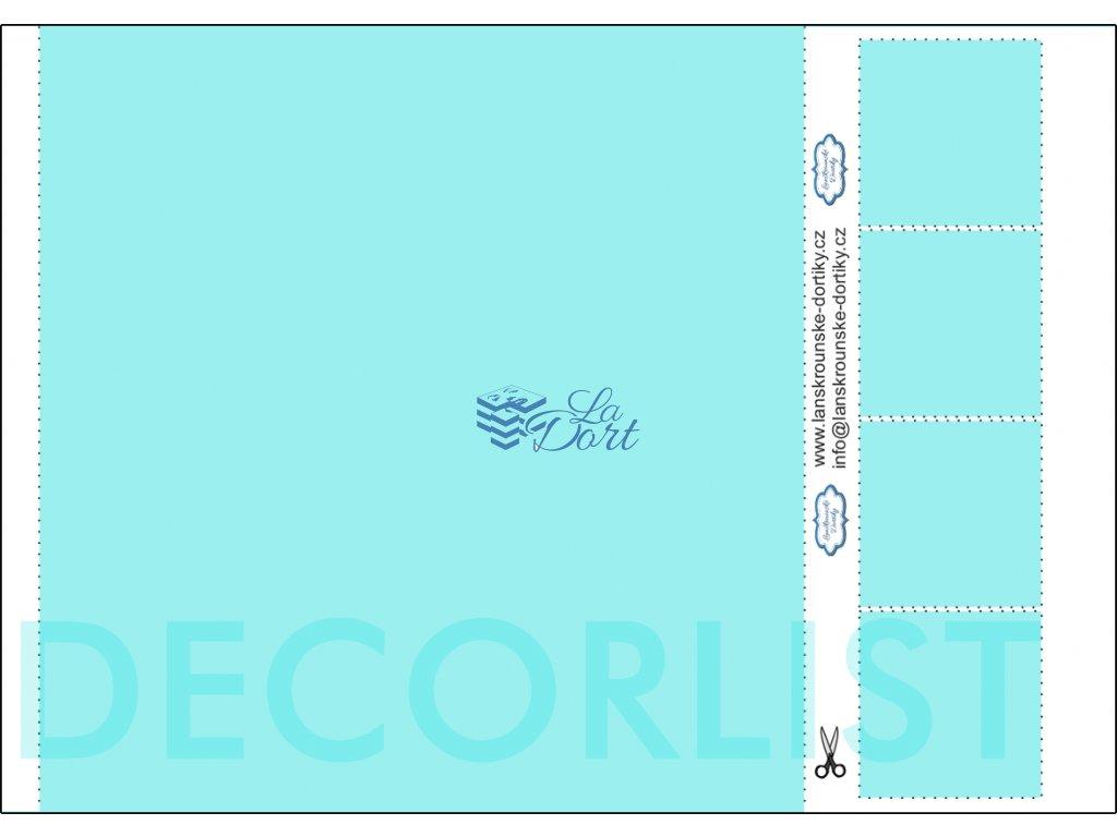 Decor list - čtverec 1 ks 21x21 cm + 4 ks 5x5 cm