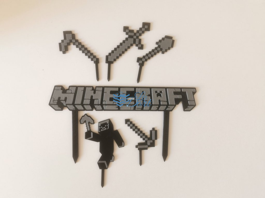 Minecraft dortový zápich - plast
