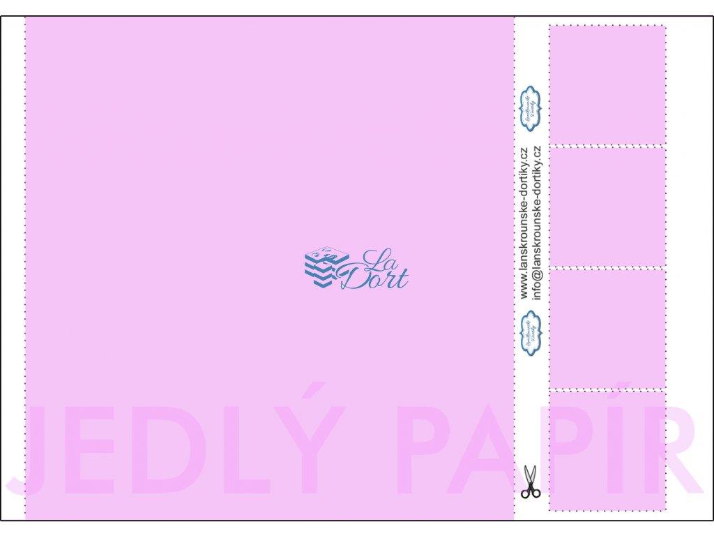 Jedlý papír - čtverec 1 ks 21x21 cm + 4 ks 5x5 cm