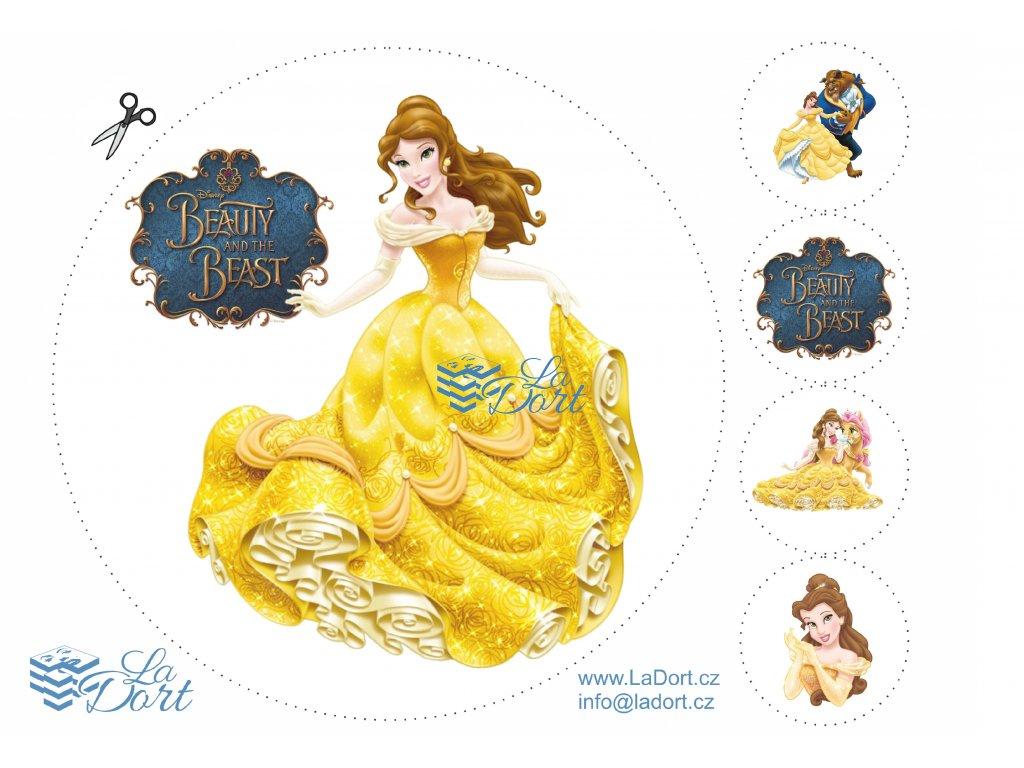 Princezna Belle od Disneye - A4 - 00294