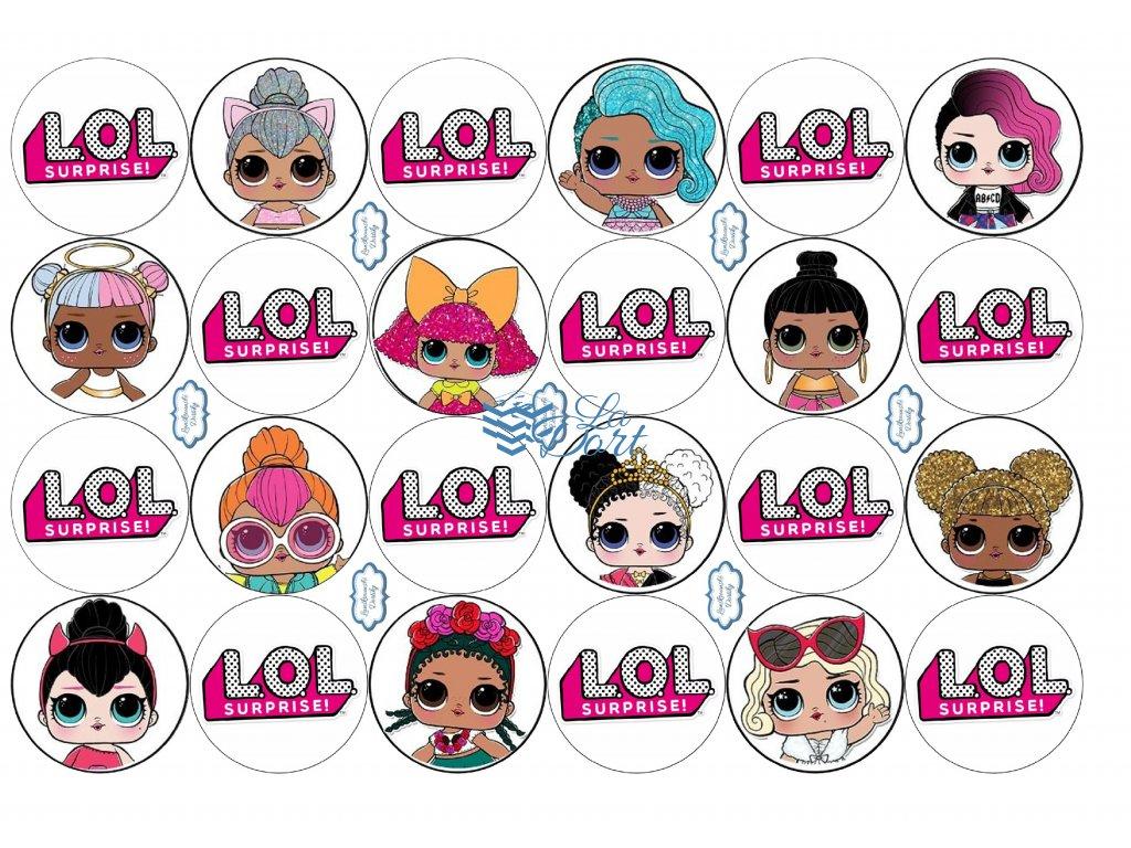 L.O.L. Surprise! lol - A4 24ks ⌀4,7 cm - 00020