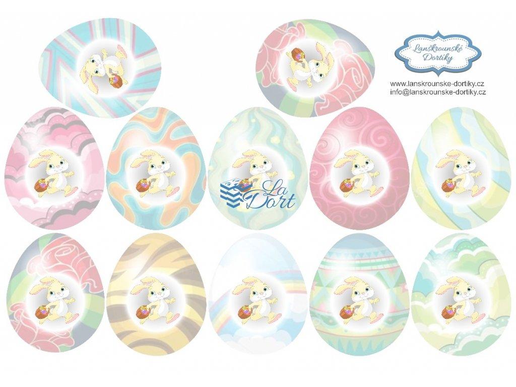 Velikonoce 12ks vajíček - A4 - 00062