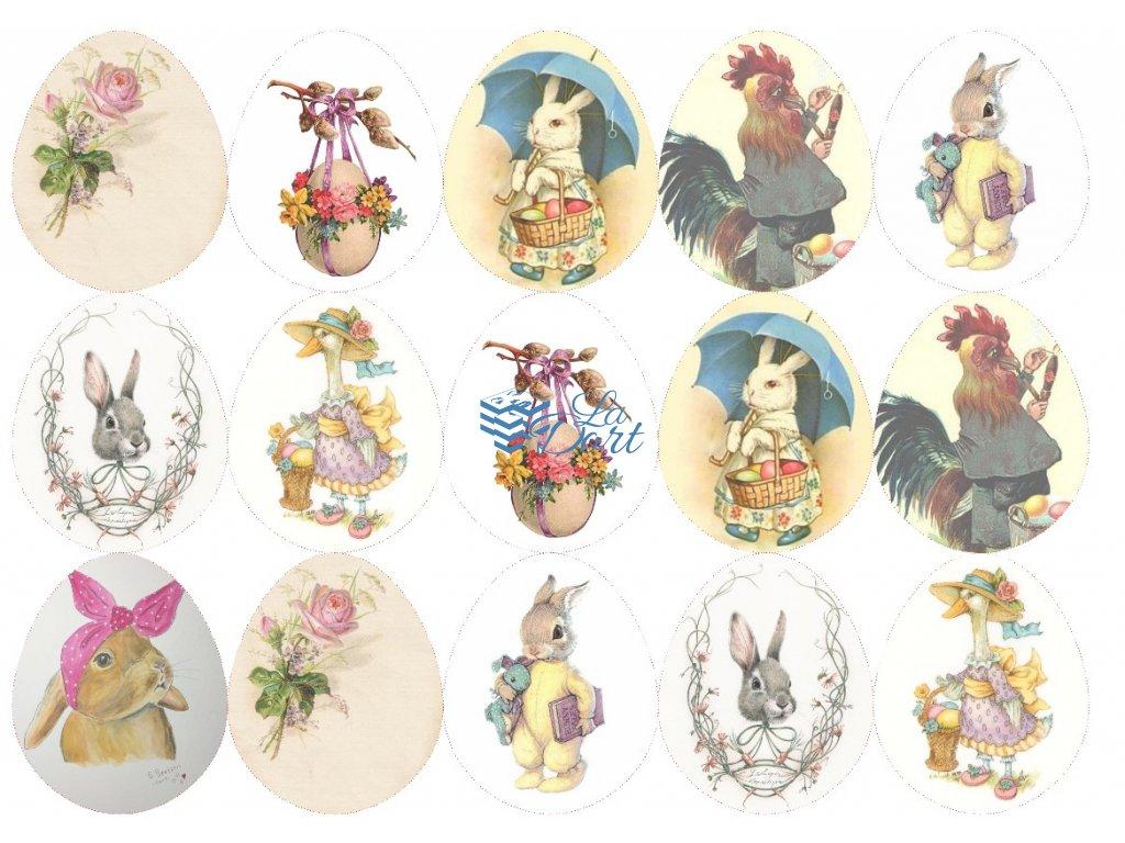 Velikonoce 15ks vajíček - A4 - 00066