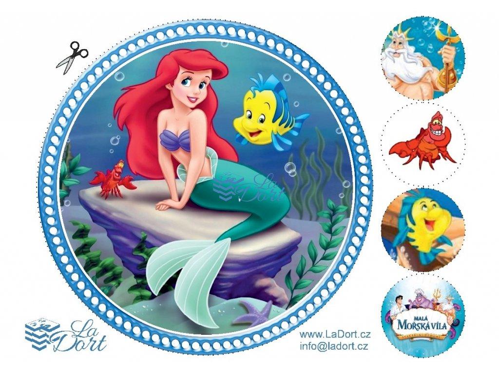Malá mořská víla - The Little Mermaid - A4 - 00079