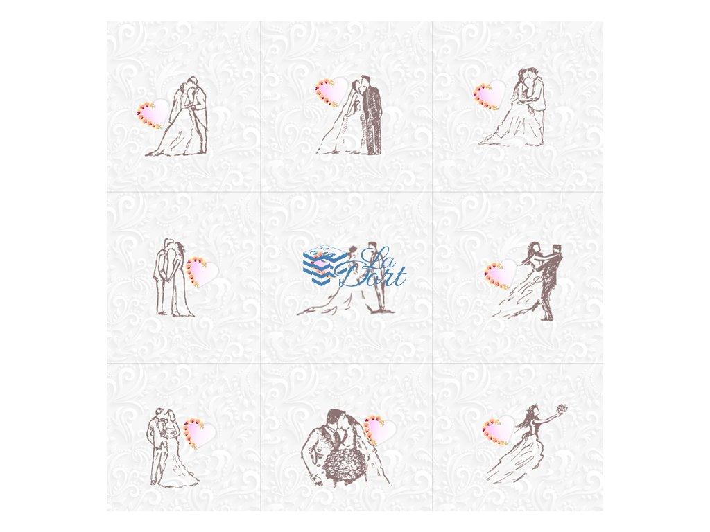 Sugar Stamps - A4 - Svatební - 48 ks na archu - 00108