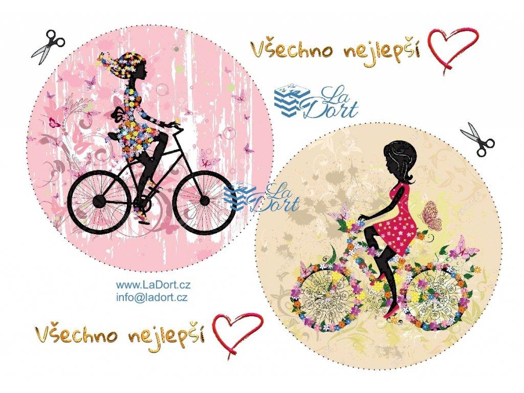 Dámy na bicyklu - A4 - 00115