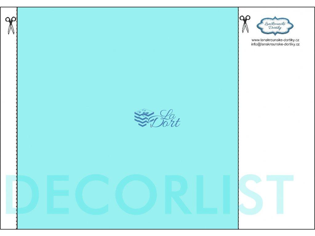 Decor list - čtverec 21x21 cm