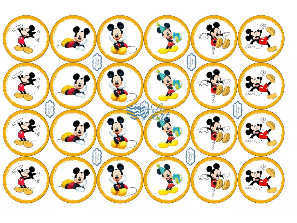 Mickey Mouse - Disney - A4 24ks ⌀4,7 cm  - 00146