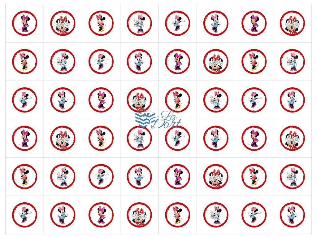 Sugar Stamps - A4 - Minnie - 48 ks na archu - 00149