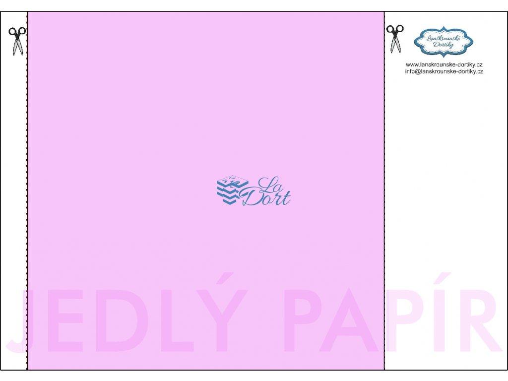Jedlý papír - čtverec 21x21 cm