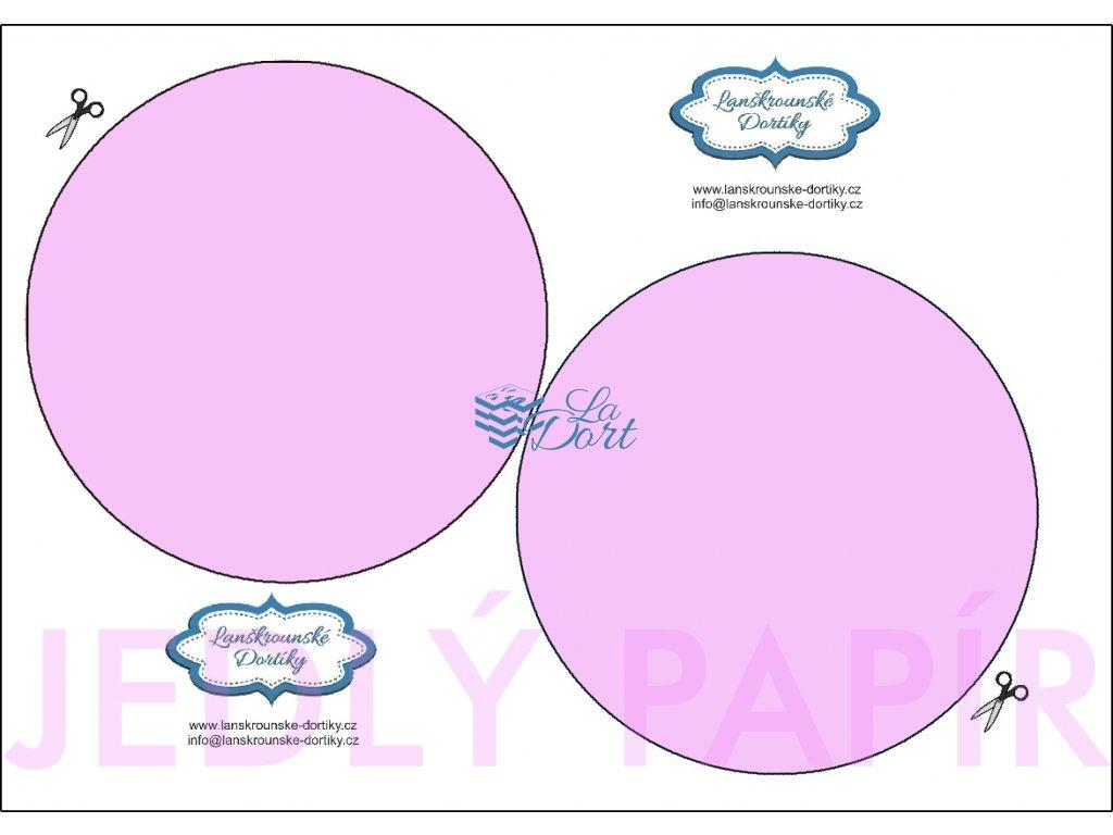 Jedlý papír - kruh 2 ks ⌀14 cm