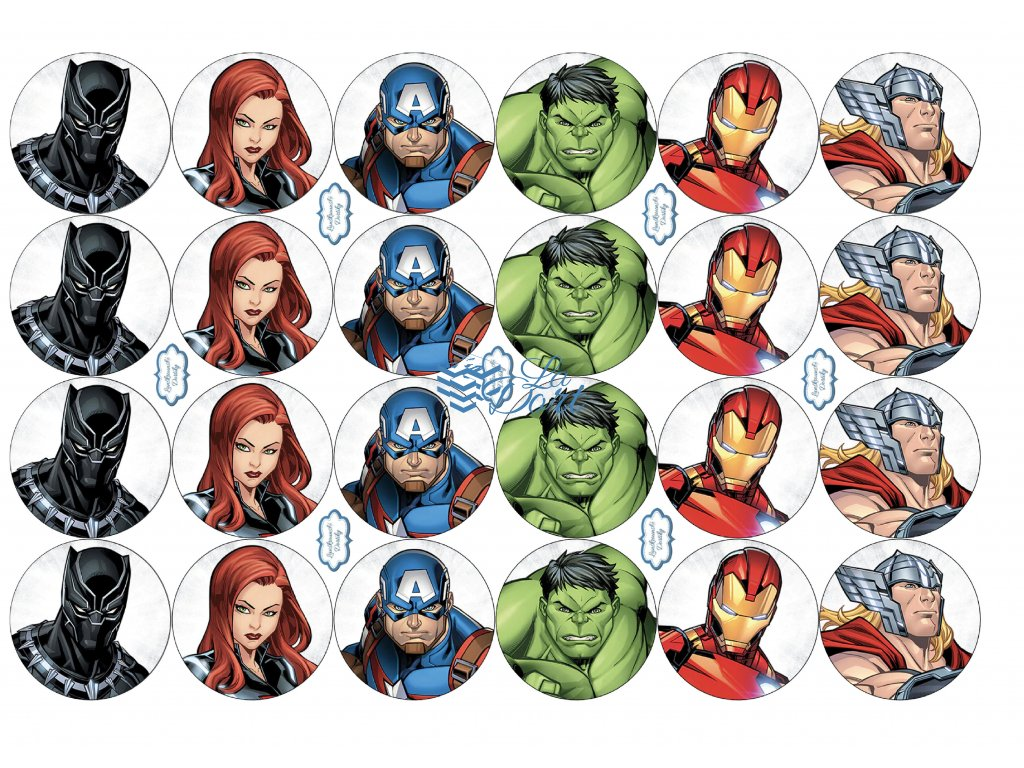 Avengers - Marvel - A4 24ks ⌀4,7 cm - 00165
