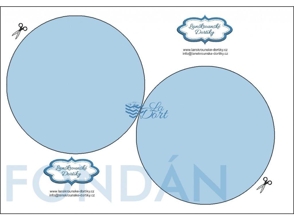 Fondánový list - kruh 2 ks ⌀14 cm