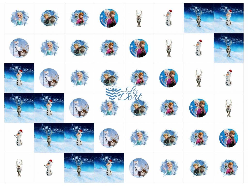 Sugar Stamps - A4 - Frozen - nejméně 48 ks na archu - 00189