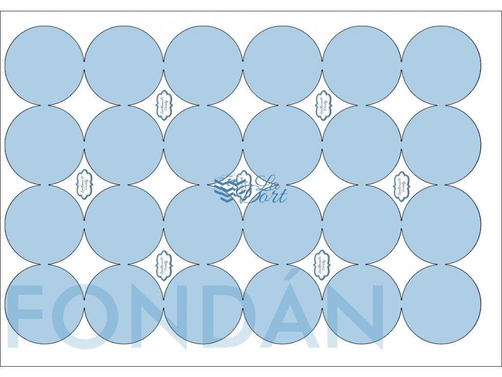 Fondánový list - kruh 24 ks ⌀4,7 cm