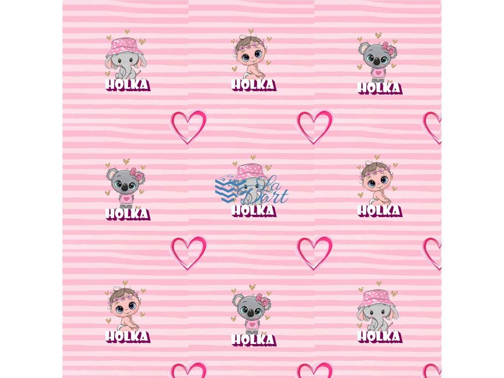 Sugar Stamps - A4 - BabyShower Holka - až 83 ks na archu - 00203